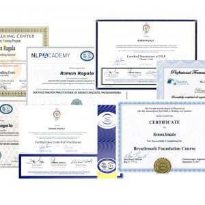 Roman Ragala - certifikáty